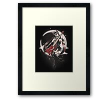 Black Metal Moon Framed Print