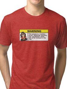 Warning - reckless driver Tri-blend T-Shirt