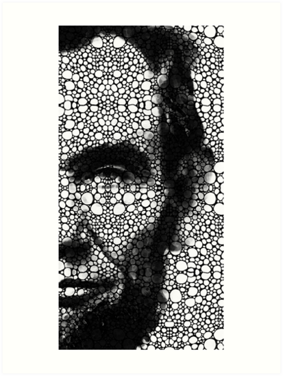 Abraham Lincoln - An American President Stone Rock'd Art Print by Sharon Cummings