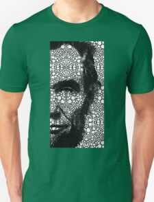 Abraham Lincoln - An American President Stone Rock'd Art Print Unisex T-Shirt