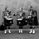 Scottish Drummers by Andrew  Makowiecki