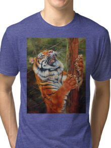 Tiger Chasing Prey Tri-blend T-Shirt