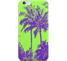 Makena Beach Hawaiian Sketchy Palms - Purple and Lime Green iPhone Case/Skin