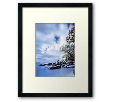 Onemana Beach infrared Framed Print