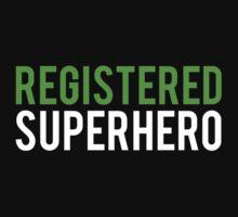 Civil War - Registered Superhero - White Clean by garudoh