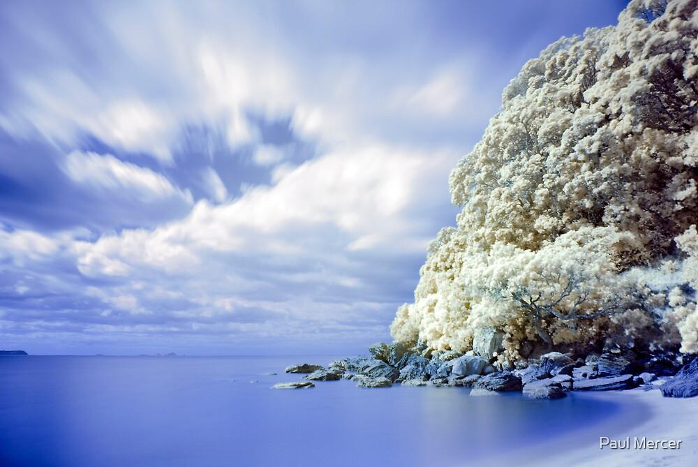 Onemana Beach infrared 2 by Paul Mercer