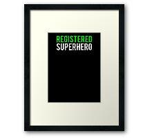 Civil War - Registered Superhero - White Dirty Framed Print