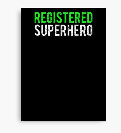 Civil War - Registered Superhero - White Dirty Canvas Print