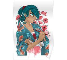 Poppies and Koi - Anghel Higure Poster
