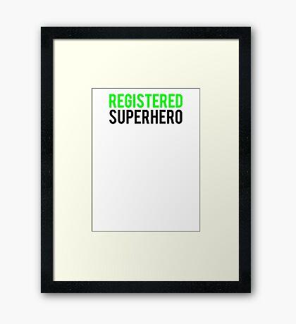 Civil War - Registered Superhero - Black Clean Framed Print