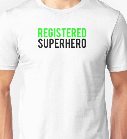 Civil War - Registered Superhero - Black Clean Unisex T-Shirt