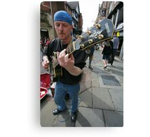 Street entertaining Canvas Print