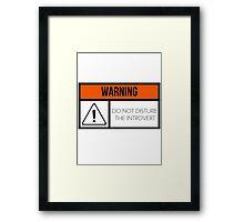 Do Not Disturb the Introvert Framed Print
