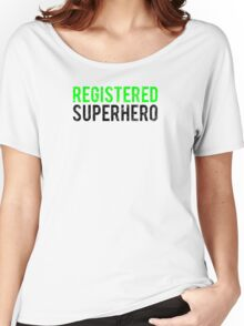 Civil War - Registered Superhero - Black Dirty Women's Relaxed Fit T-Shirt