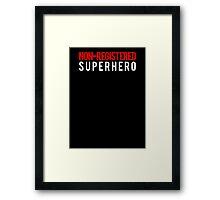 Civil War - Non-Registered Superhero - White Clean Framed Print