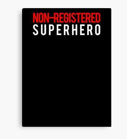 Civil War - Non-Registered Superhero - White Clean Canvas Print