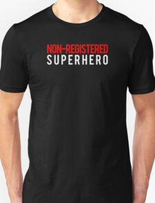 Civil War - Non-Registered Superhero - White Clean T-Shirt