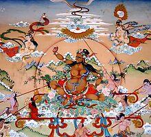 mandala. tibetan wall painting, india by tim buckley | bodhiimages