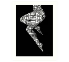 Suspended - Artistic Nude Stone Rock'd Art By Sharon Cummings Art Print