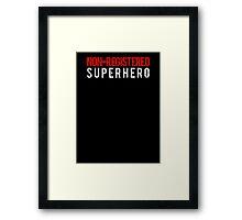 Civil War - Non-Registered Superhero - White Dirty Framed Print