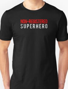 Civil War - Non-Registered Superhero - White Dirty T-Shirt