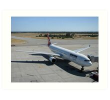 Leaving on a jet plane - but not for Scrabble Art Print