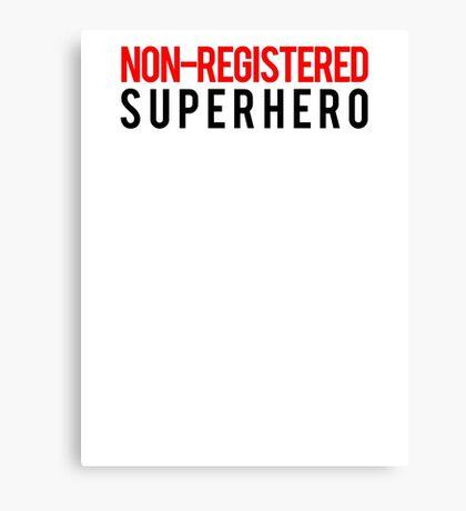 Civil War - Non-Registered Superhero - Black Clean Canvas Print