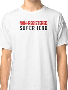 Civil War - Non-Registered Superhero - Black Clean Classic T-Shirt
