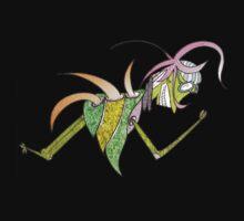 beetle back color glider Kids Tee