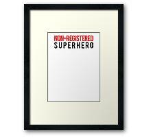 Civil War - Non-Registered Superhero - Black Dirty Framed Print