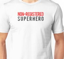 Civil War - Non-Registered Superhero - Black Dirty Unisex T-Shirt