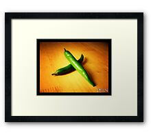 green chilli Framed Print