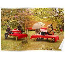 Japanese Picknick at Kyoto Poster