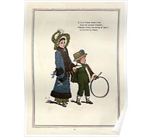Under the Window Pictures and Rhymes for Children Edmund Evans and Kate Greenaway 1878 0024 Hoop Poster