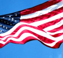 Old Glory - American Flag by Sharon Cummings Sticker