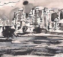 RAINY CITY(C2010) by Paul Romanowski