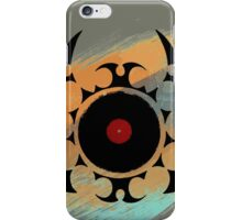 Retro Vinyl Records Music - Vinyl With Paint and Tribal Spikes - DJ TShirt iPhone Case/Skin