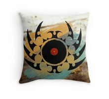 Retro Vinyl Records Music - Vinyl With Paint and Tribal Spikes - DJ TShirt Throw Pillow