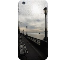 A Quiet, Peaceful Esplanade - New York City, Hudson River iPhone Case/Skin