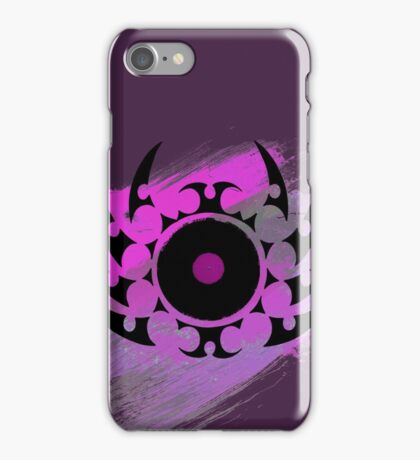 Retro Vinyl Records - Vinyl With Paint and Tribal Spikes - Music DJ TShirt iPhone Case/Skin