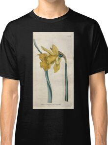 The Botanical magazine, or, Flower garden displayed by William Curtis V1 V2 1787 1789 0114 Narcissus Major, Great Daffodil Classic T-Shirt