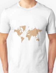 World With No Borders - brown T-Shirt