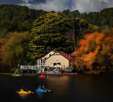 The Boat House Lake Daylesford by Margaret Metcalfe