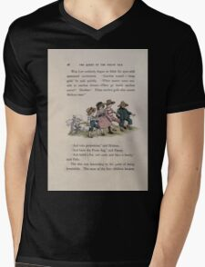 The Queen of Pirate Isle Bret Harte, Edmund Evans, Kate Greenaway 1886 0032 On the Hill Mens V-Neck T-Shirt