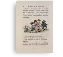 The Queen of Pirate Isle Bret Harte, Edmund Evans, Kate Greenaway 1886 0032 On the Hill Canvas Print