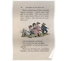 The Queen of Pirate Isle Bret Harte, Edmund Evans, Kate Greenaway 1886 0032 On the Hill Poster