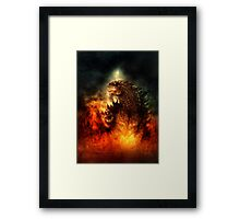 A Monster or a God? Framed Print
