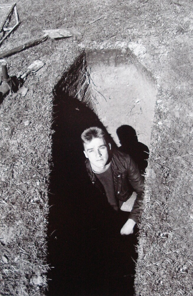 self portrait in freshly dug grave by Loui  Jover
