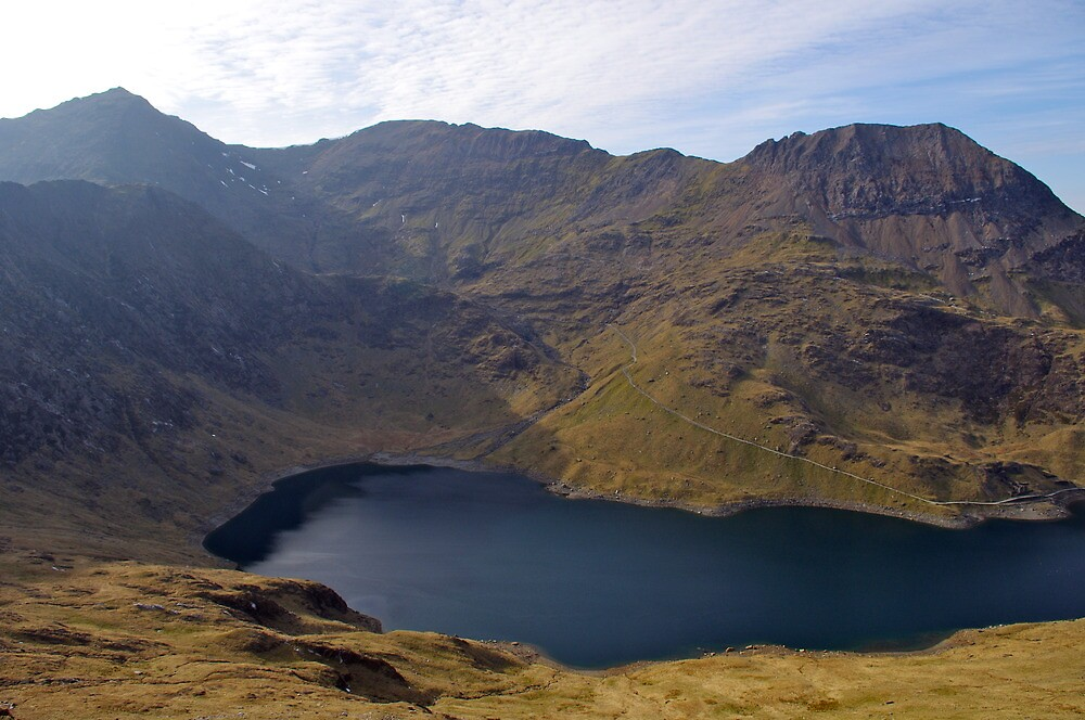 Snowdon.  View from the slopes of Y Lliwedd by John Williams
