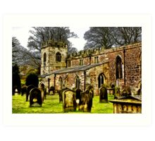 St Peters Church - Croft-on-Tees . Art Print